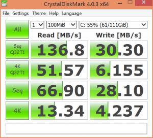 Surface 3 Internal SSD Performance